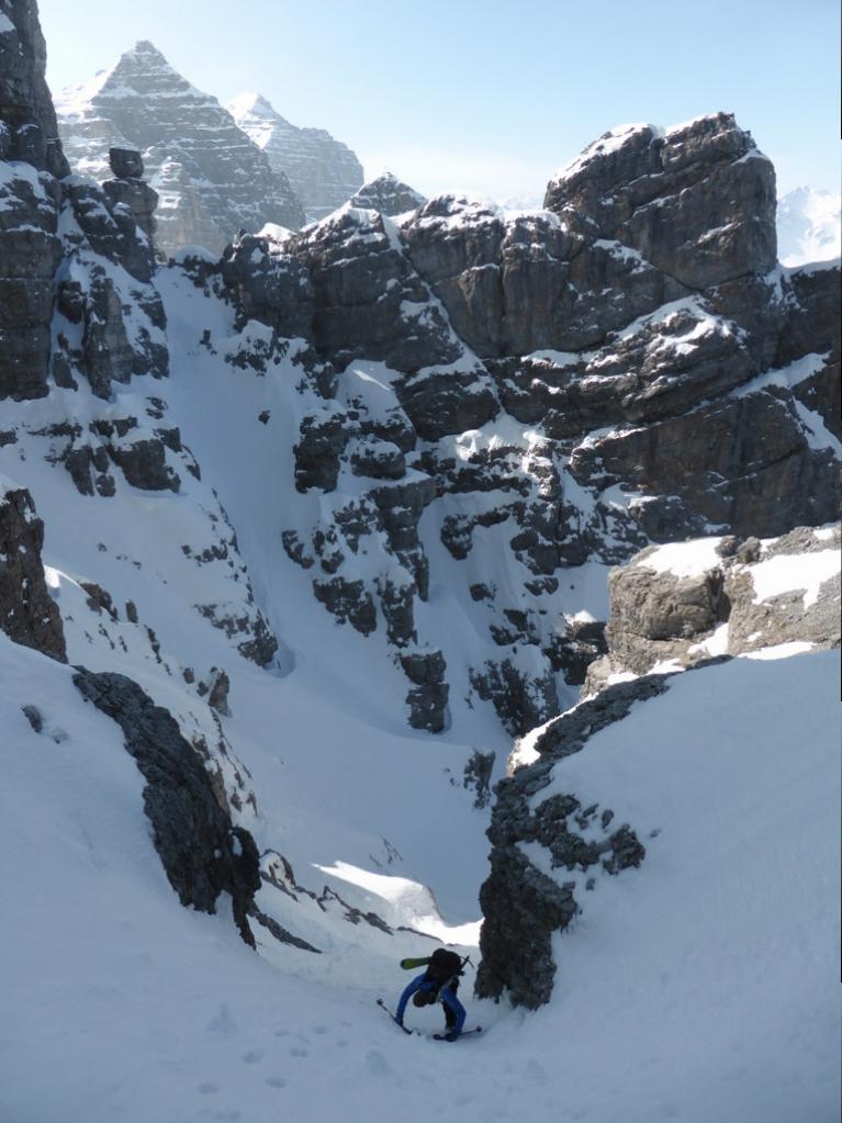 Kurzer Abstieg unterhalb des RAC-Turms