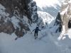 Die letzten Meter zur Scharte in die Schlick - Kettersteigseil AK-Scharte-Steingrubenkogel