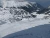 Perfekter Schnee hinunter zur Kemater Alm