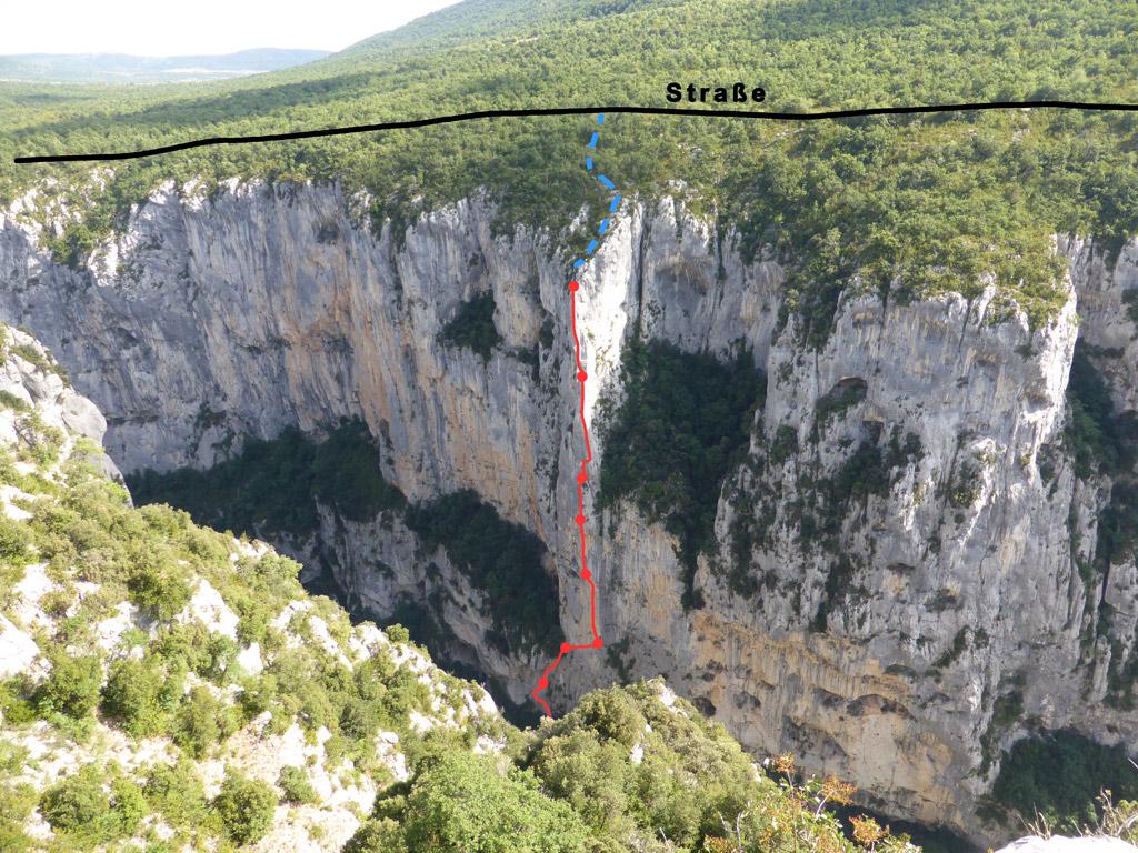 Klettersteig Verdon : Verdonschlucht u tandem pour une evidence m c und