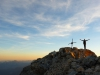Bei Sonnenuntergang am Civetta-Gipfel