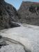 Schneefeld am Einstieg - links kein Durchkommen