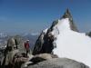 An der Abseilstelle vor dem Gipfelanstieg