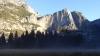 Letzte Reste der Yosemite Falls am Morgen