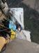 Extrem exponiertes Biwak an Stand 21