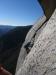 Schönste Freikletterstelle der Muir Wall - zwischen den beiden Pendlern der SL 31