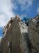 Super exponierte Kletterei direkt an der Kante