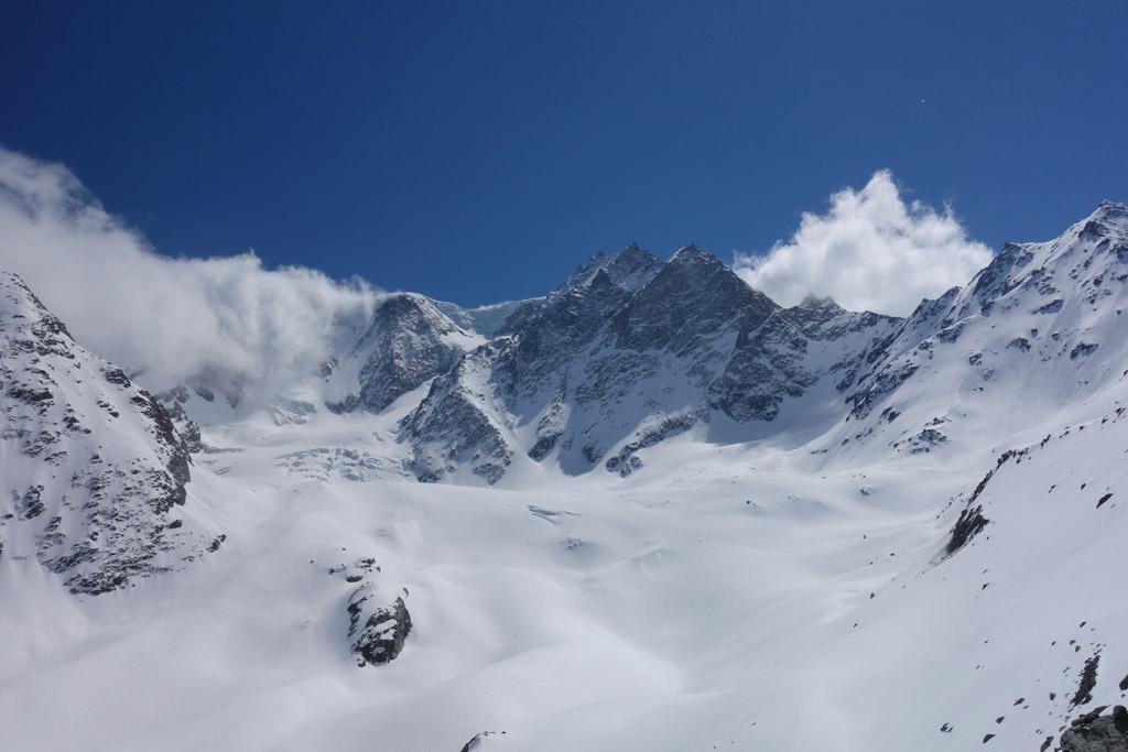 Blick über den Glacier de Tseudet Richtung Mont Velan