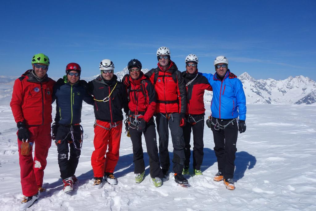 Die Bergrettung Axams am Mont Velan - 3727 m