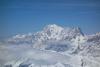 Grandioser Ausblick Richtung Mont Blanc Massiv vom Gipfel