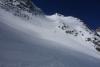 Steile Abfahrtsrinne östlich vom Gletscherbruch des Glacierf de Valsorey - nahe Punkt 2995