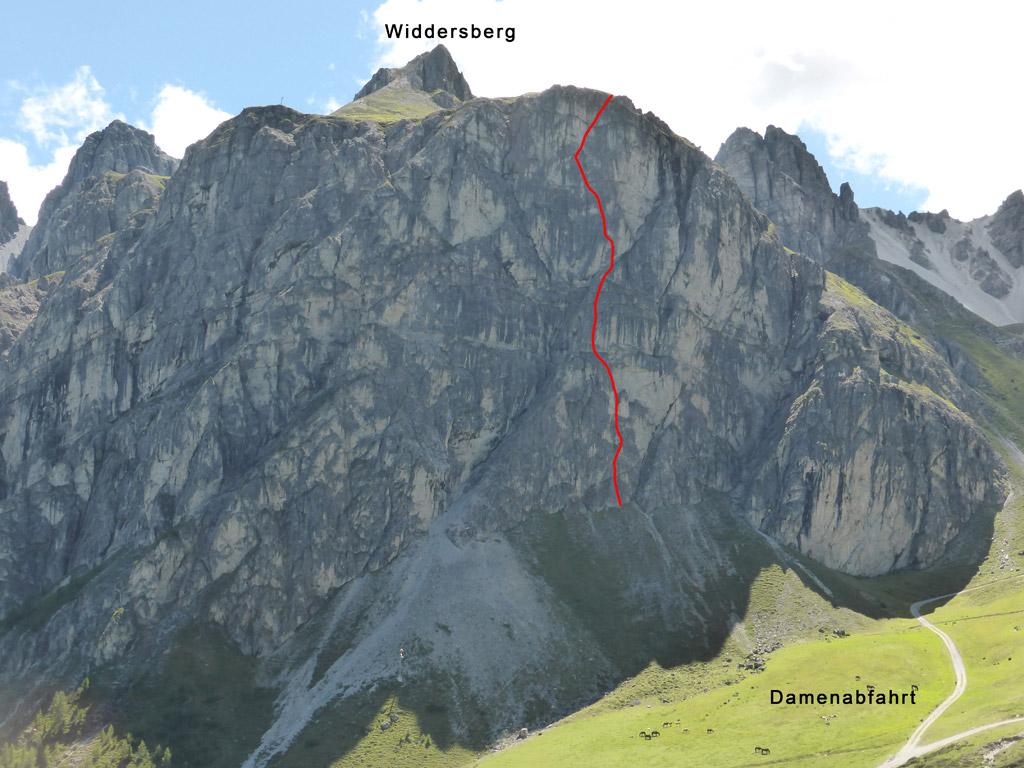 Routenverlauf - Hörzingwand - Hart aber Hörzlich