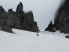 Noch genug Schnee für einen schnellen Abstieg