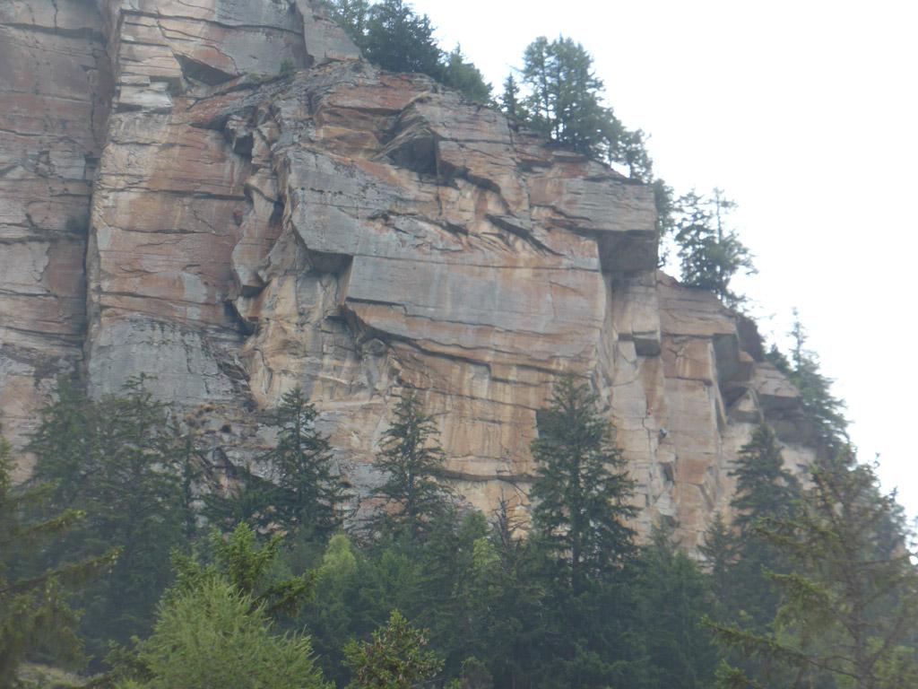 Oberer Wandteil des Klettergartens