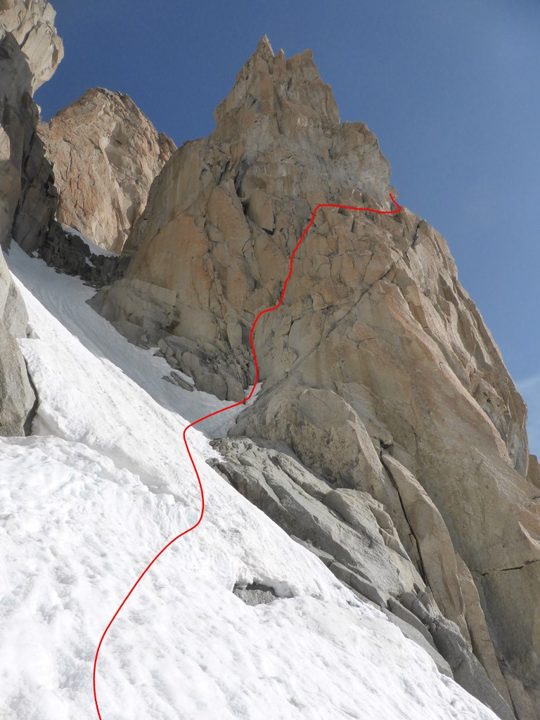 Zustieg und erster Teil der Route