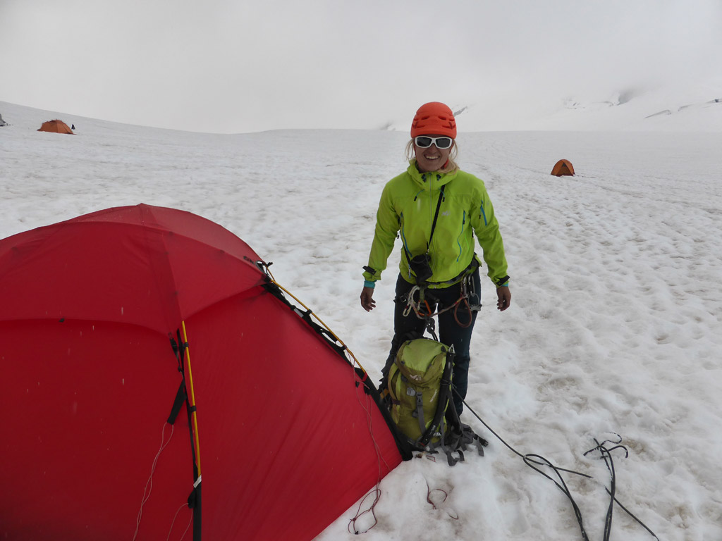 Gerade rechtzeitig am Zelt angekommen