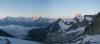 Morgenstimmung von Monte Rosa bis Matterhorn