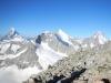 Matterhorn, Wellenkuppe, Obergabelhorn und Dent Blanche