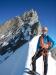 Am Firngrat - im Hintergrund der Gipfelaufbau des Zinalrothorns