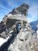 Tolle und ausgesetzte Kletterei kurz vor dem Gipfel