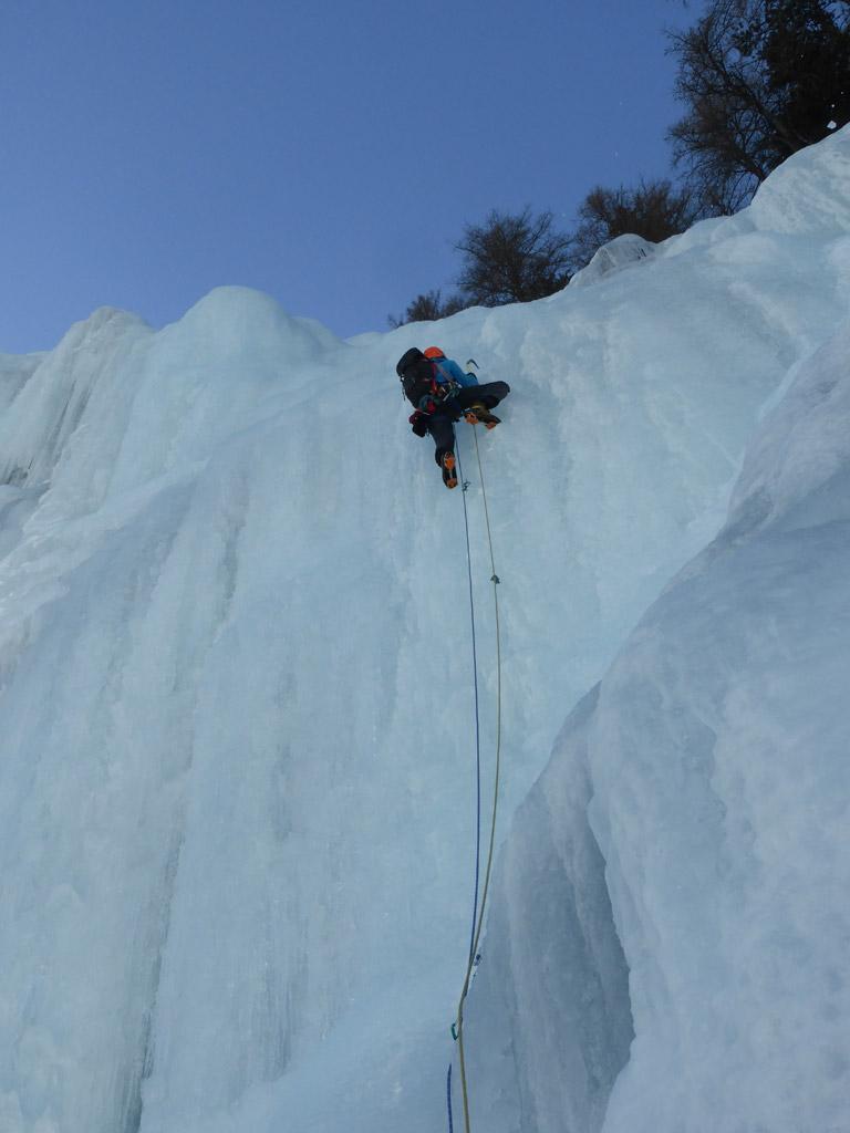 Letzte steile Länge im Eisenbachfall
