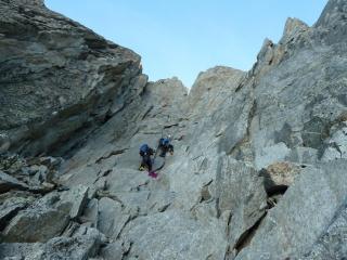 Letzte Länge hinauf zum Col de l'Amone