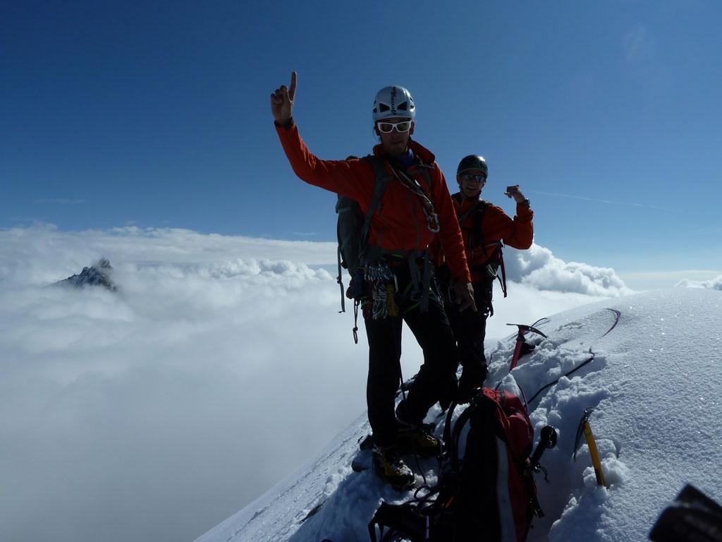 Am Gipfel des Obergabelhorns