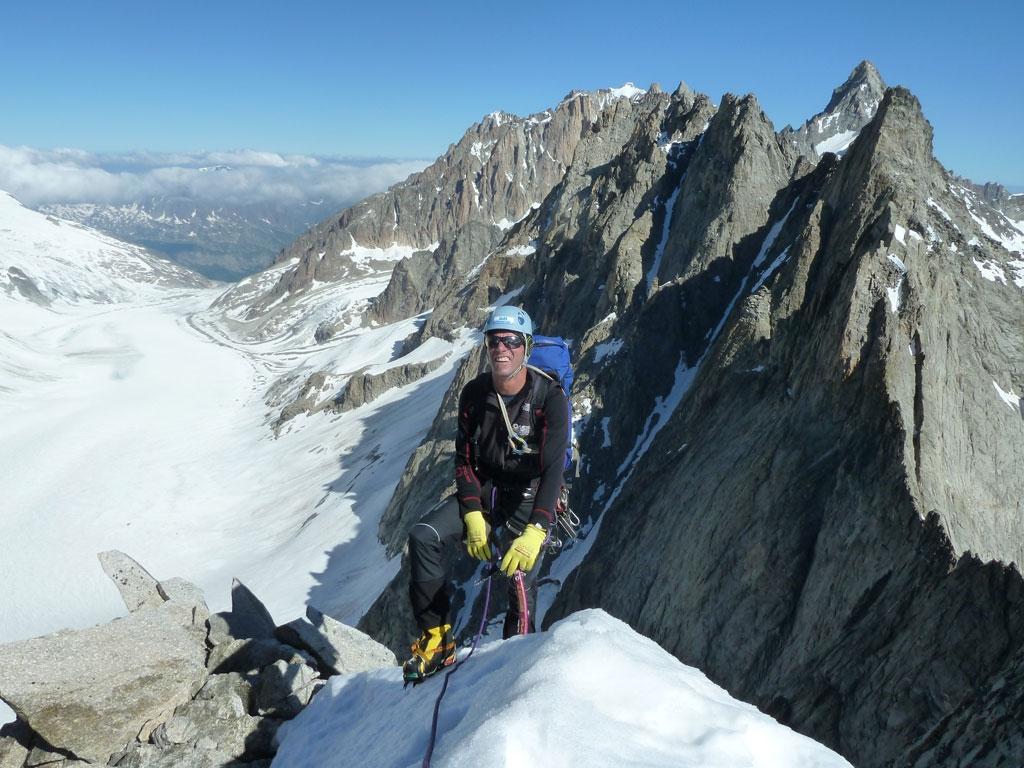 Karl am N-Grat des Mont Dolents