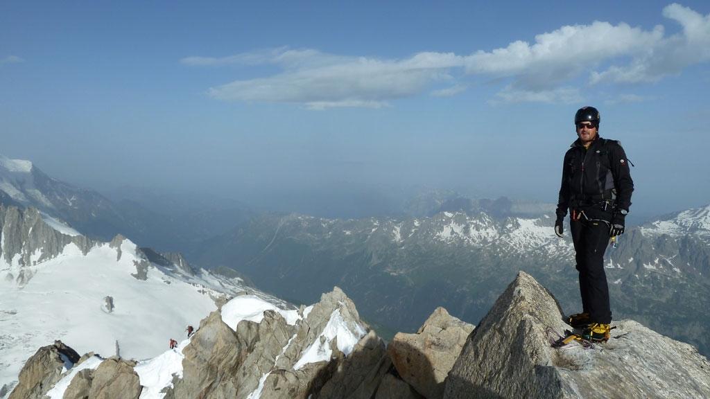 Chris am Gipfel der Chardonnet