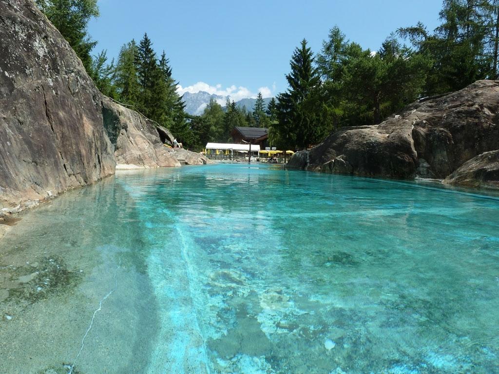 Pool im Zoo von Les Marecottes