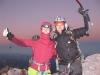 Eva und Josy am Mt Blanc Gipfel