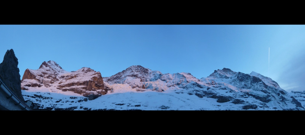 Eiger - Mönch - Jungfrau in Abendrot