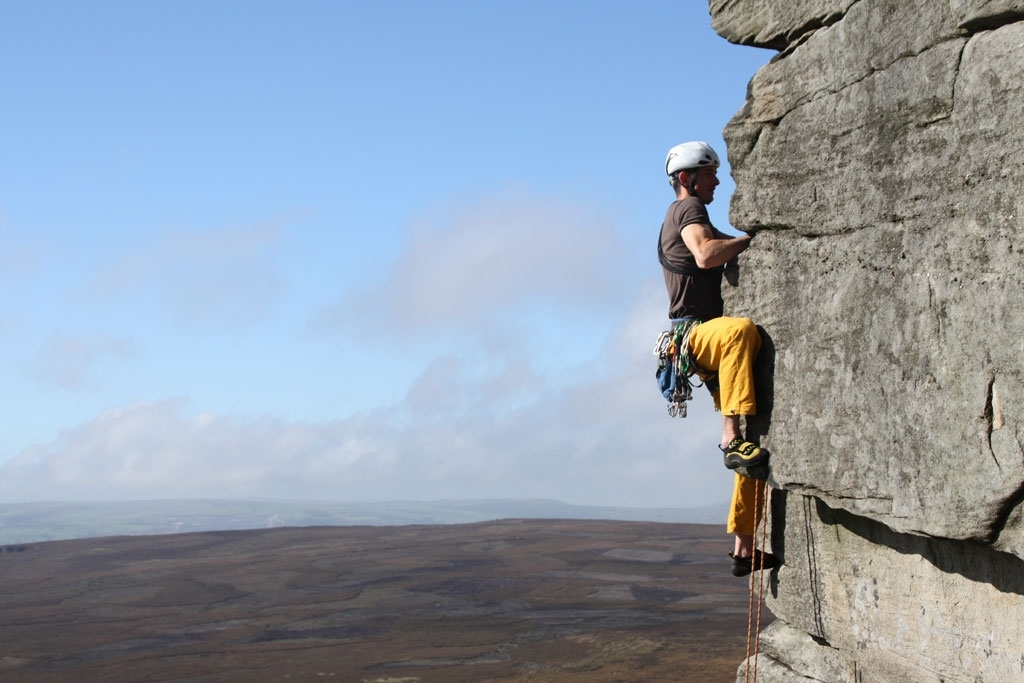 In der Traumlinie der High Neb Edge HVS 5c - Stanage