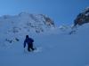 Abfahrt 1 - Steile Rinne vom Gipfel der Hafelekarspitze
