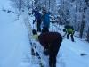 Ab der Jagdhuette gings mit Ski weiter