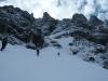 Gerade noch schneebedeckter Einstieg
