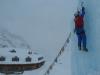 Eisklettern am Turm neben der Jamtalhütte