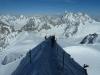 Abstieg von der Aguille du Midi