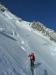 Steile Querung am Mont Maudit
