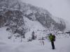Nebel, Schneefall, Wind - bestes Eiskletterwetter