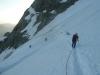 Erste Gletscher-Steilstufe - bald danach verlässt man den Normalweg