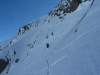 Steiles Gelände hinunter zum Gurgler Ferner
