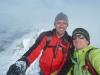 Am Gipfelkreuz - als zweite dieses Jahr