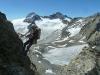 30 m abseilen zum Einstieg der Südwand