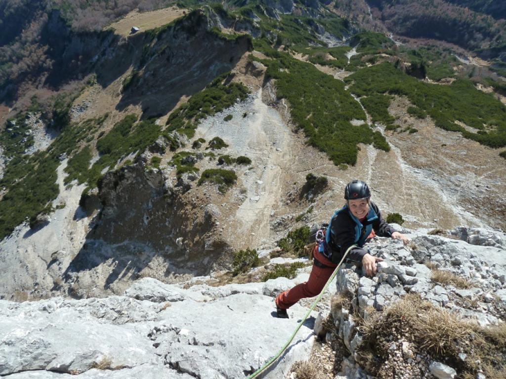 Klettersteig Hochthron : Untersberg berchtesgadener hochthron u2013 neue südwand vii 250m