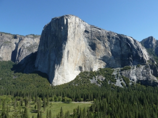 El Capitan - Die Licht-Schattengrenze markiert unsere Route