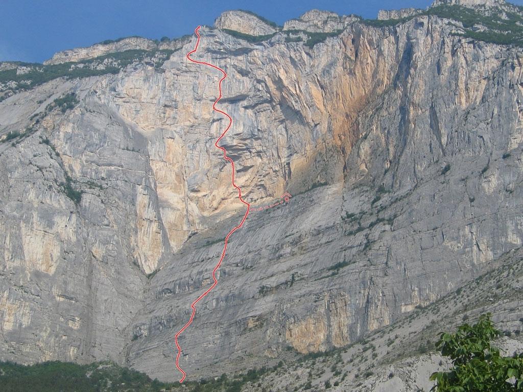 Routenverlauf der Via Vertigine