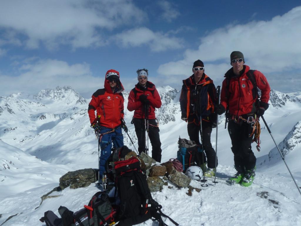 Meine Gruppe am Gipfel des Ochsenkopfs