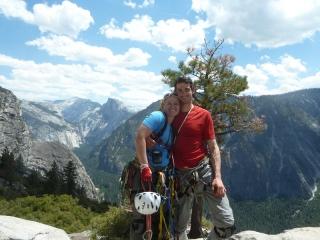 Gipfelfoto mit Half Dome